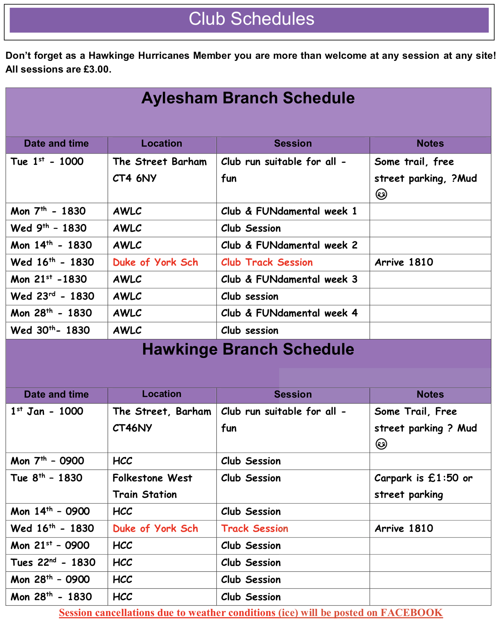 Schedule-January-2019